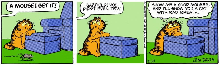 Оригинал комикса про Гарфилда от 21 июня 1978 года