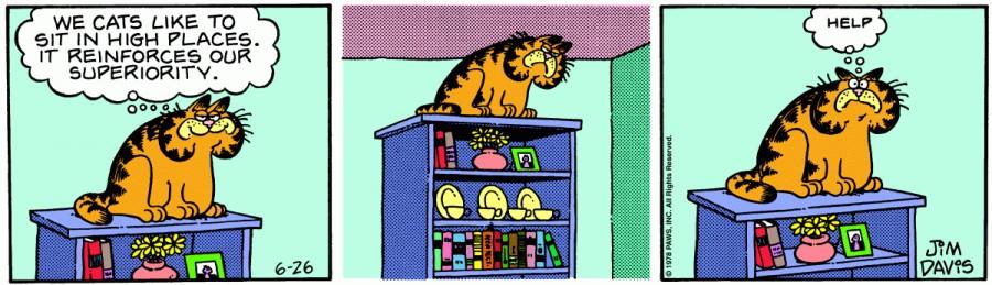 Оригинал комикса про Гарфилда от 26 июня 1978 года