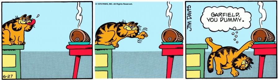 Оригинал комикса про Гарфилда от 27 июня 1978 года