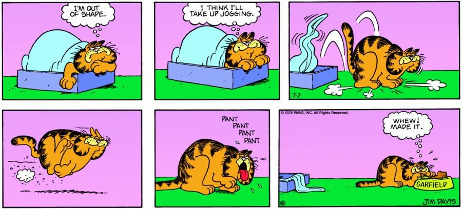 Оригинал комикса про Гарфилда от 02 июля 1978 года