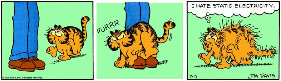Оригинал комикса про Гарфилда от 03 июля 1978 года