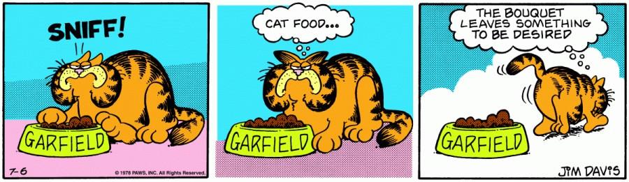 Оригинал комикса про Гарфилда от 06 июля 1978 года
