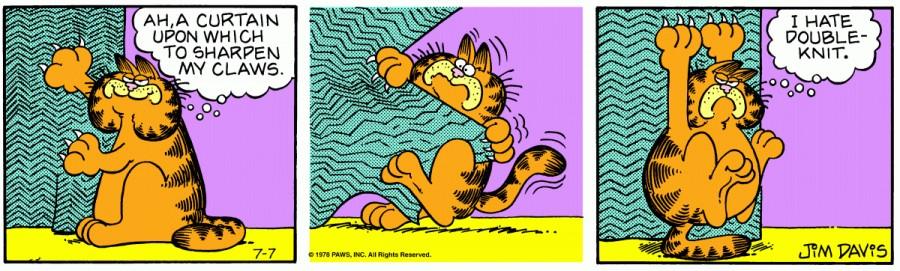Оригинал комикса про Гарфилда от 07 июля 1978 года