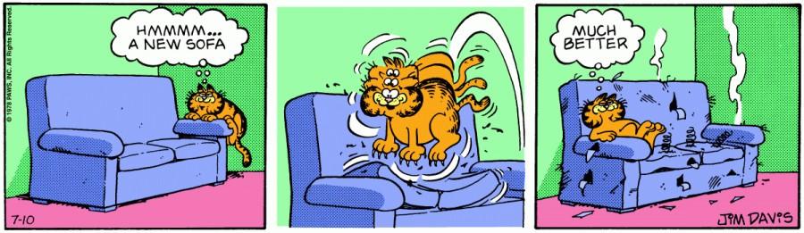 Оригинал комикса про Гарфилда от 10 июля 1978 года