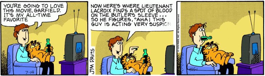 Оригинал комикса про Гарфилда от 14 июля 1978 года