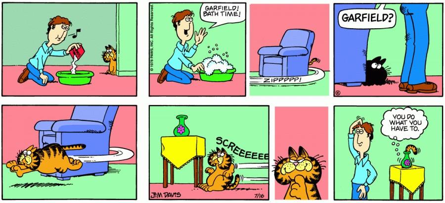 Оригинал комикса про Гарфилда от 16 июля 1978 года