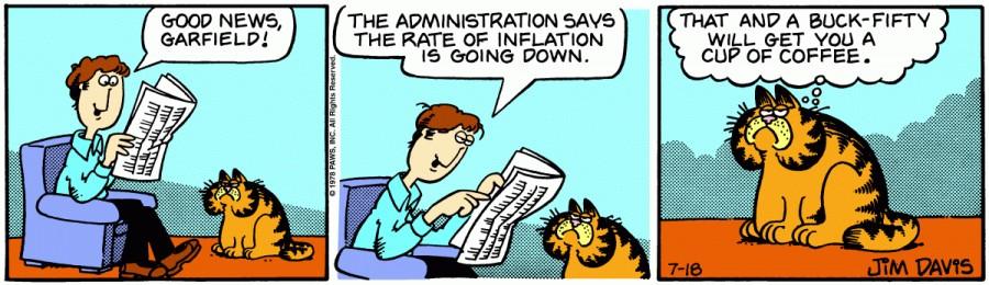 Оригинал комикса про Гарфилда от 18 июля 1978 года