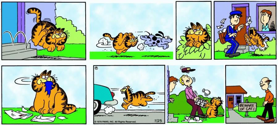 Оригинал комикса про Гарфилда от 23 июля 1978 года