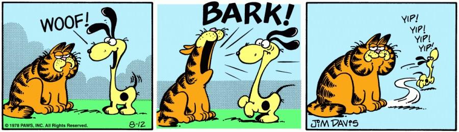 Оригинал комикса про Гарфилда от 12 августа 1978 года