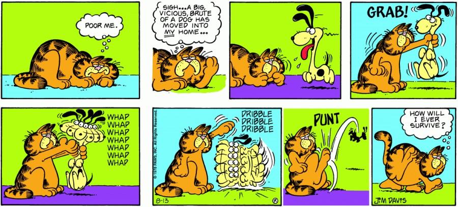 Оригинал комикса про Гарфилда от 13 августа 1978 года