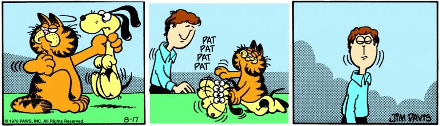 Оригинал комикса про Гарфилда от 17 августа 1978 года