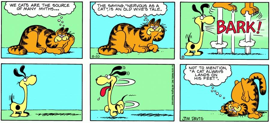 Оригинал комикса про Гарфилда от 20 августа 1978 года