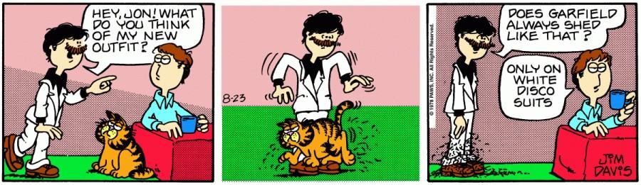Оригинал комикса про Гарфилда от 23 августа 1978 года