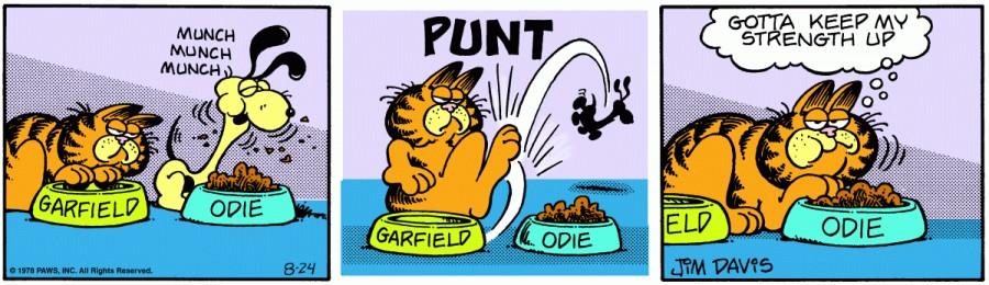 Оригинал комикса про Гарфилда от 24 августа 1978 года