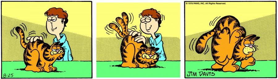 Оригинал комикса про Гарфилда от 25 августа 1978 года