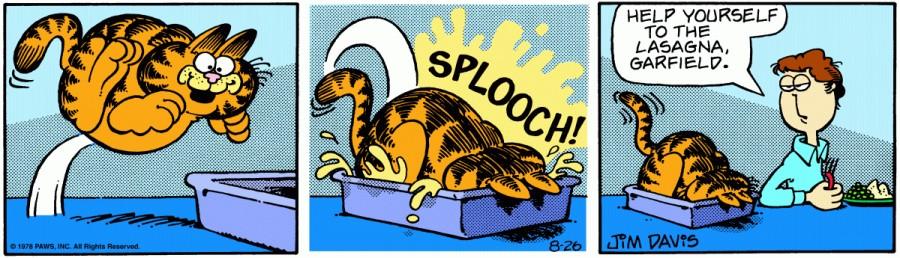 Оригинал комикса про Гарфилда от 26 августа 1978 года