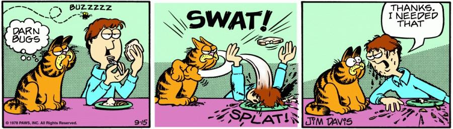 Оригинал комикса про Гарфилда от 15 сентября 1978 года