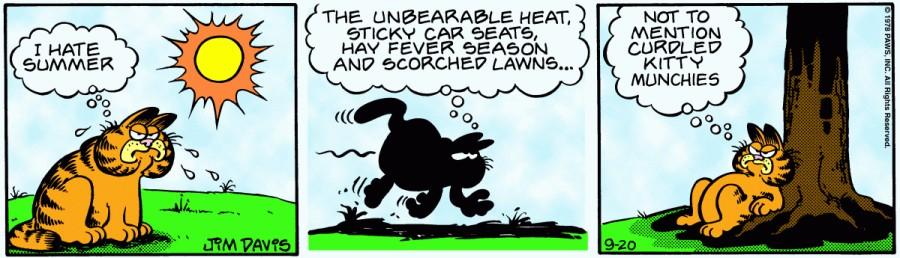Оригинал комикса про Гарфилда от 20 сентября 1978 года
