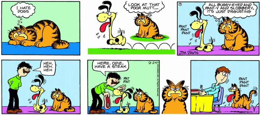 Оригинал комикса про Гарфилда от 24 сентября 1978 года
