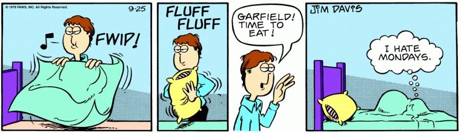 Оригинал комикса про Гарфилда от 25 сентября 1978 года