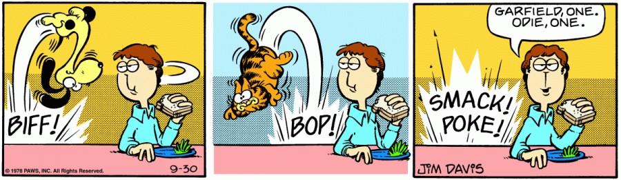 Оригинал комикса про Гарфилда от 30 сентября 1978 года