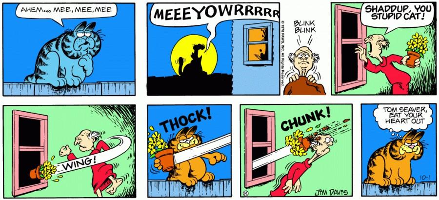 Оригинал комикса про Гарфилда от 01 октября 1978 года