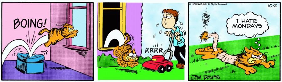 Оригинал комикса про Гарфилда от 02 октября 1978 года