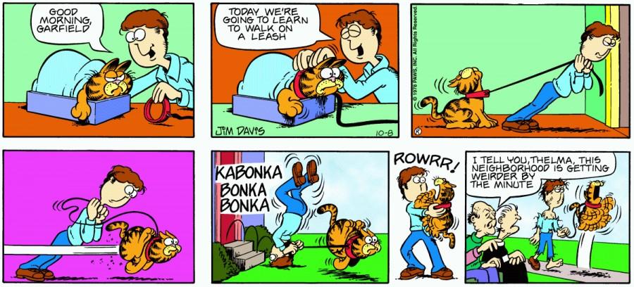 Оригинал комикса про Гарфилда от 08 октября 1978 года