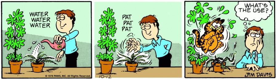 Оригинал комикса про Гарфилда от 12 октября 1978 года