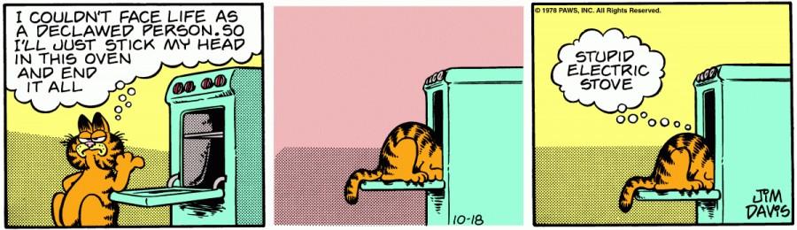 Оригинал комикса про Гарфилда от 18 октября 1978 года