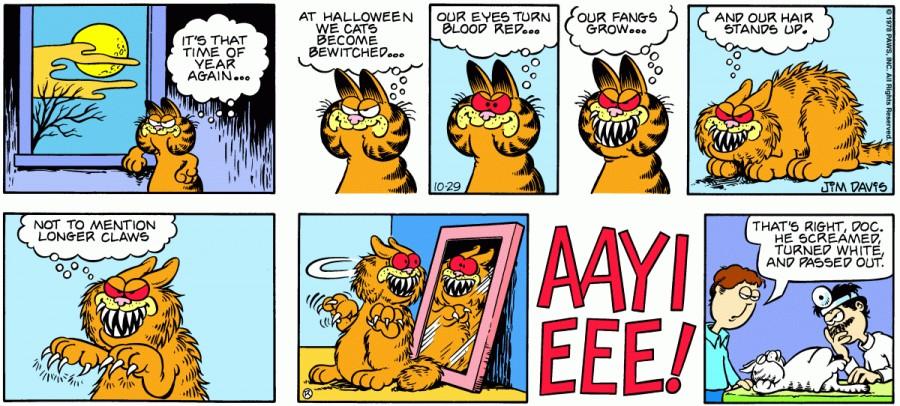 Оригинал комикса про Гарфилда от 29 октября 1978 года