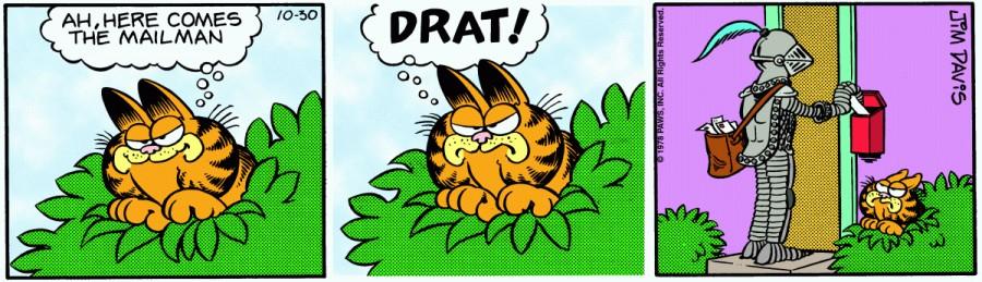 Оригинал комикса про Гарфилда от 30 октября 1978 года