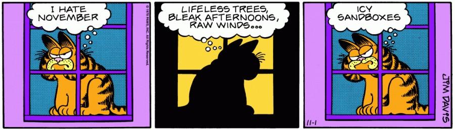 Оригинал комикса про Гарфилда от 01 ноября 1978 года