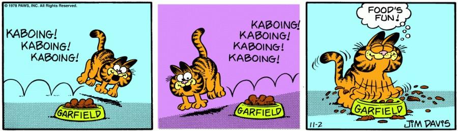 Оригинал комикса про Гарфилда от 02 ноября 1978 года