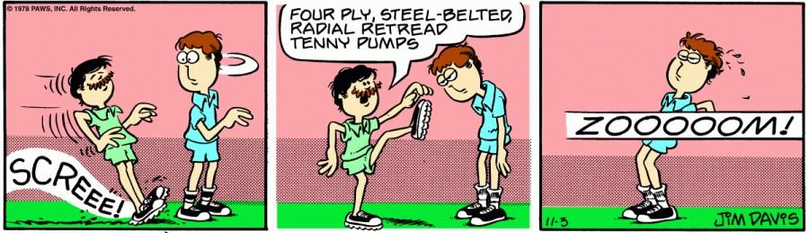 Оригинал комикса про Гарфилда от 03 ноября 1978 года