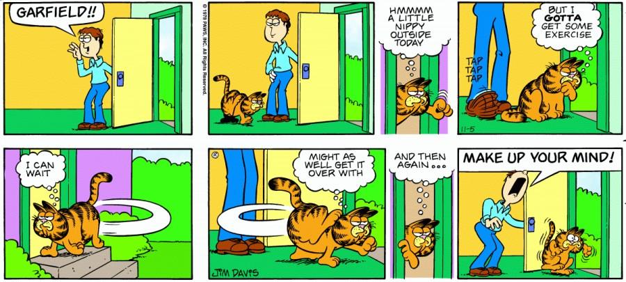 Оригинал комикса про Гарфилда от 05 ноября 1978 года