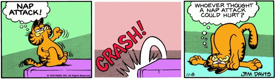 Оригинал комикса про Гарфилда от 08 ноября 1978 года