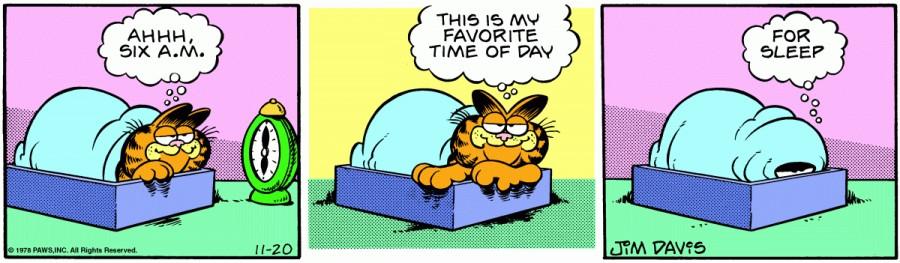 Оригинал комикса про Гарфилда от 20 ноября 1978 года