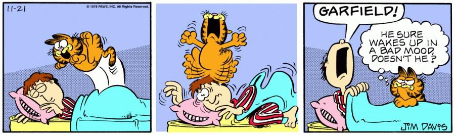 Оригинал комикса про Гарфилда от 21 ноября 1978 года