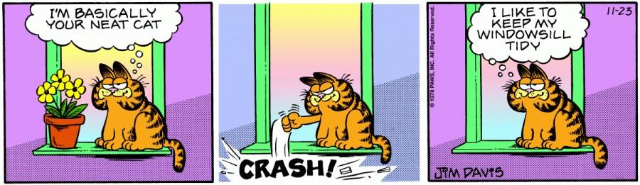 Оригинал комикса про Гарфилда от 23 ноября 1978 года