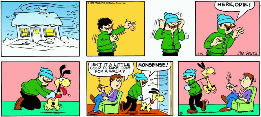 Оригинал комикса про Гарфилда от 10 декабря 1978 года