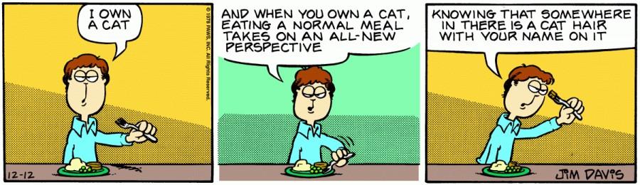 Оригинал комикса про Гарфилда от 12 декабря 1978 года