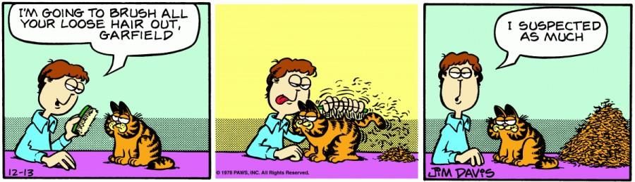 Оригинал комикса про Гарфилда от 13 декабря 1978 года