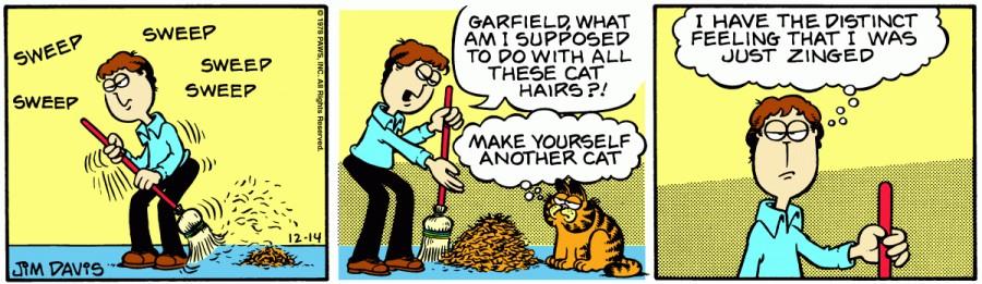 Оригинал комикса про Гарфилда от 14 декабря 1978 года