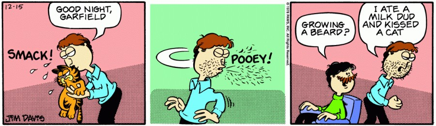 Оригинал комикса про Гарфилда от 15 декабря 1978 года