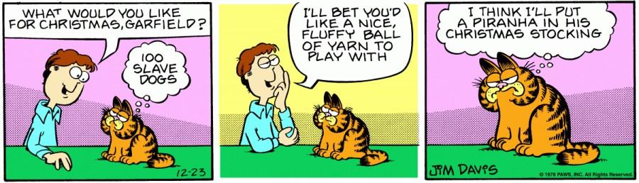Оригинал комикса про Гарфилда от 23 декабря 1978 года