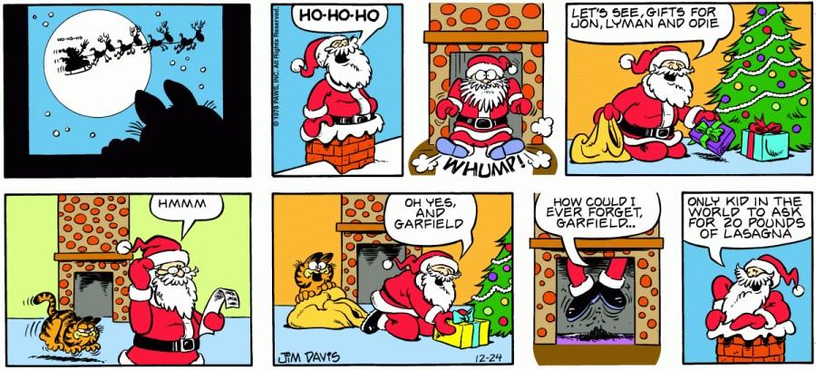 Оригинал комикса про Гарфилда от 24 декабря 1978 года