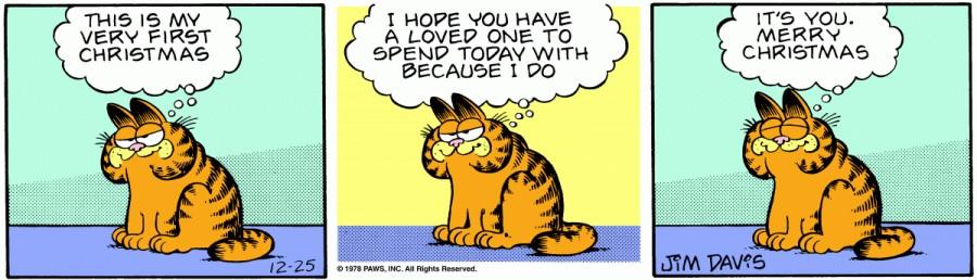 Оригинал комикса про Гарфилда от 25 декабря 1978 года