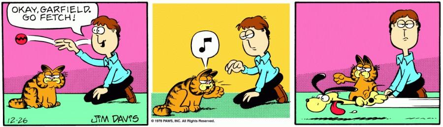Оригинал комикса про Гарфилда от 26 декабря 1978 года
