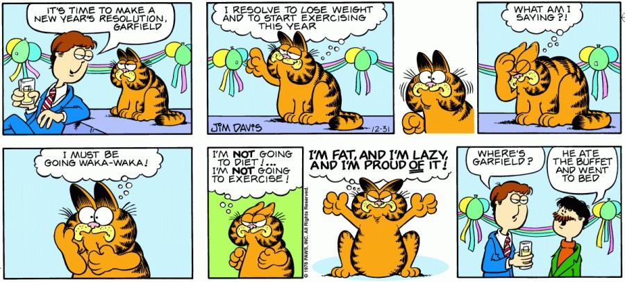Оригинал комикса про Гарфилда от 31 декабря 1978 года